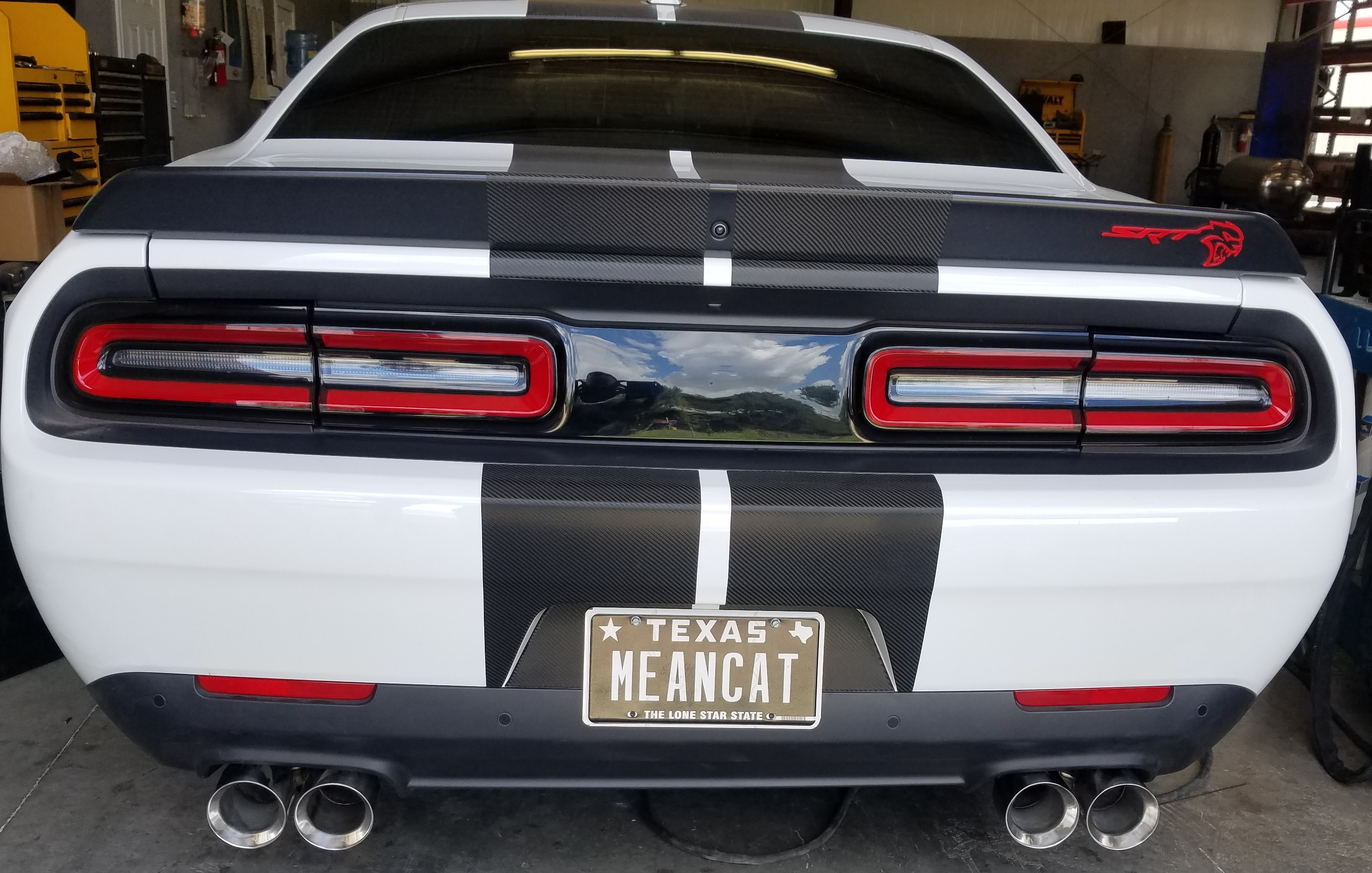 the back is done exhaust tips they way they should be srt hellcat forum. Black Bedroom Furniture Sets. Home Design Ideas