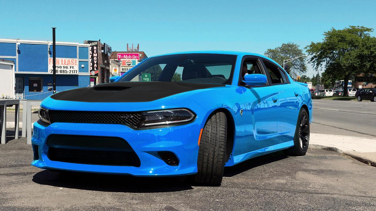 Dodge Challenger Hellcat Blue >> Anyone Black Wrap there Charger Hood? | SRT Hellcat Forum