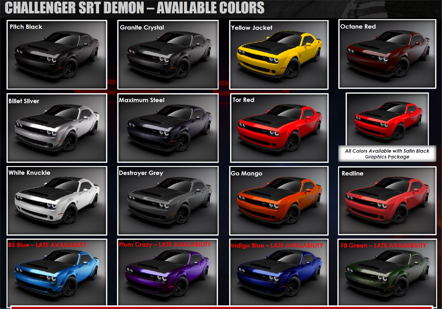 2015 Dodge Barracuda >> Demon Orders: Unified thread for colors and options | Page 39 | SRT Hellcat Forum