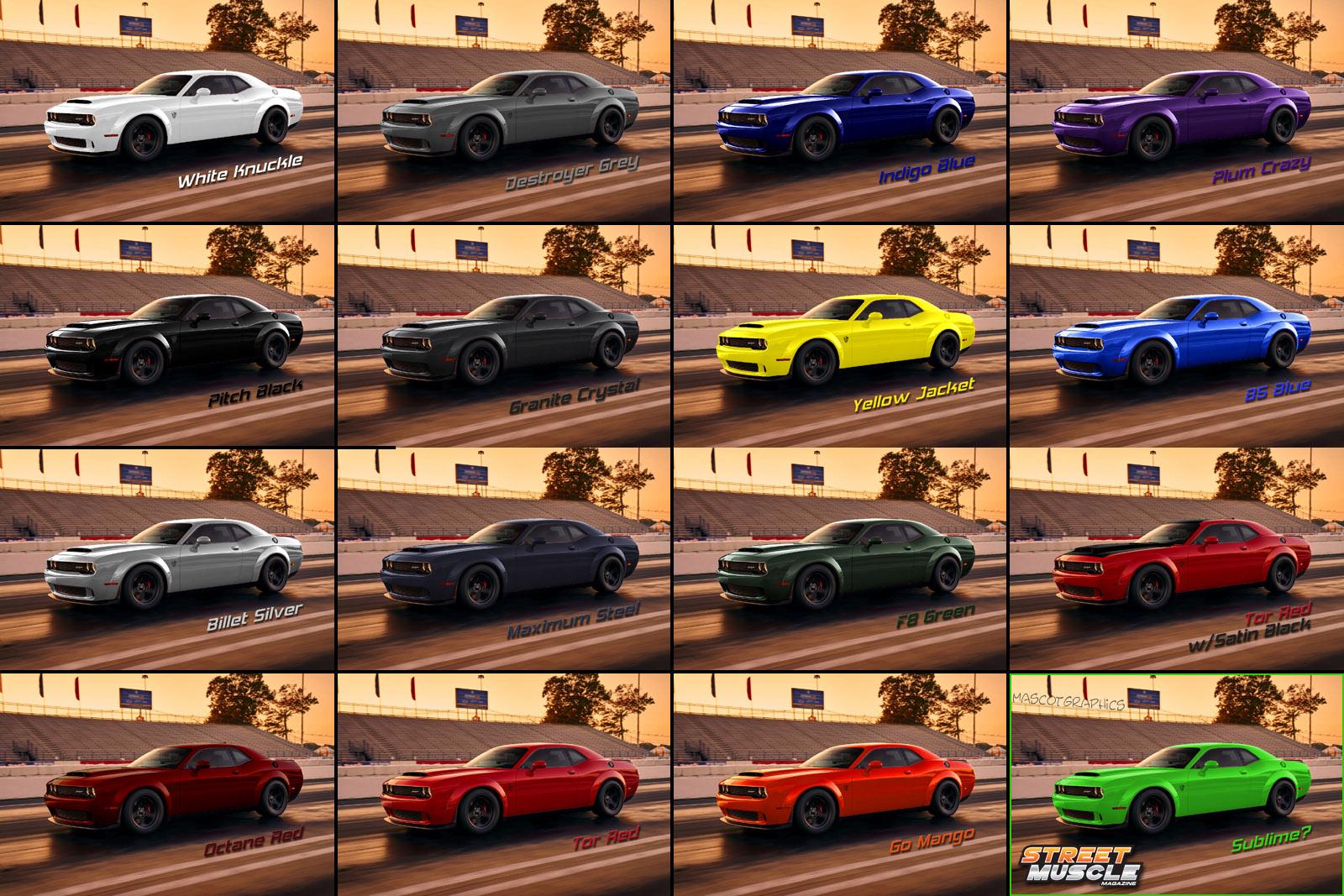 Dodge Demon Colors >> Color Color Color Srt Hellcat Forum
