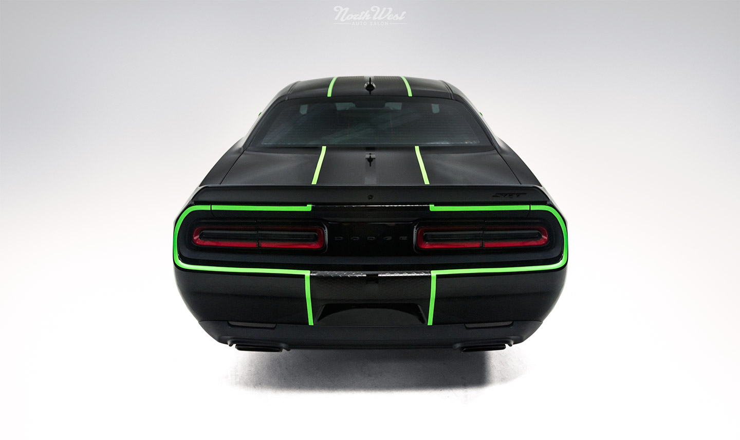 Dodge-Challenger-SRT-Hellcat-new-car-detail-ceramic-pro-custom-neon-green-stripes-back.jpg
