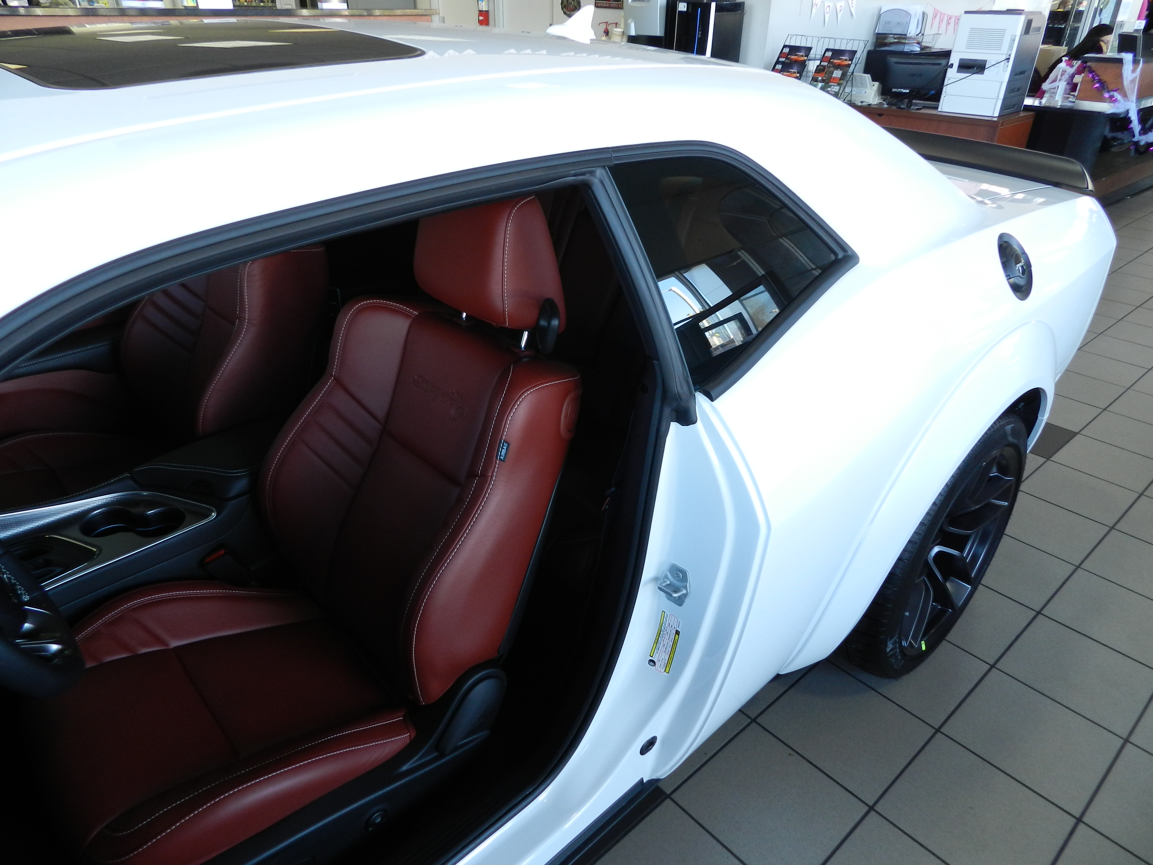 White knuckle with red interior pics needed please page 2 srt hellcat forum for Black dodge challenger with red interior