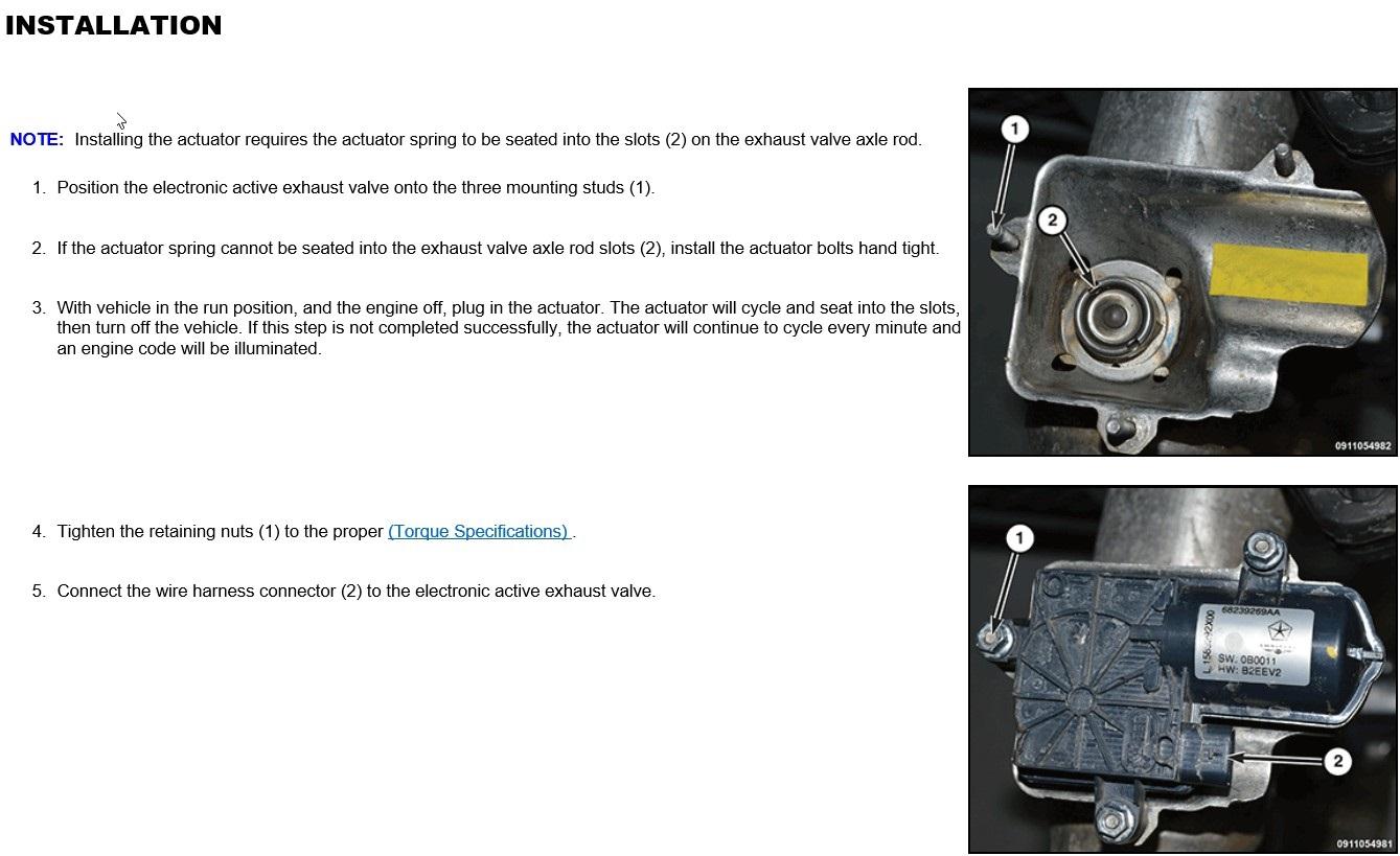 Exhaust valve actuator warranty denial   SRT Hellcat Forum