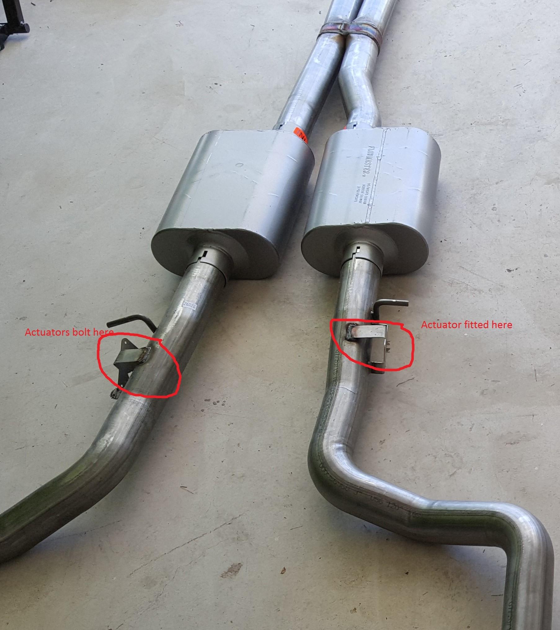 Active Exhaust Actuators Part Number Srt Hellcat Forum