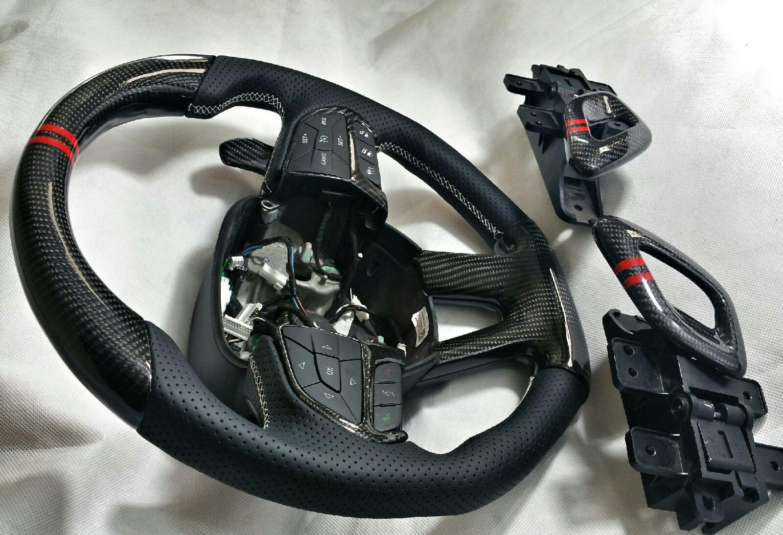 Brand New Hellcat Carbon Fiber Steering Wheel Swap