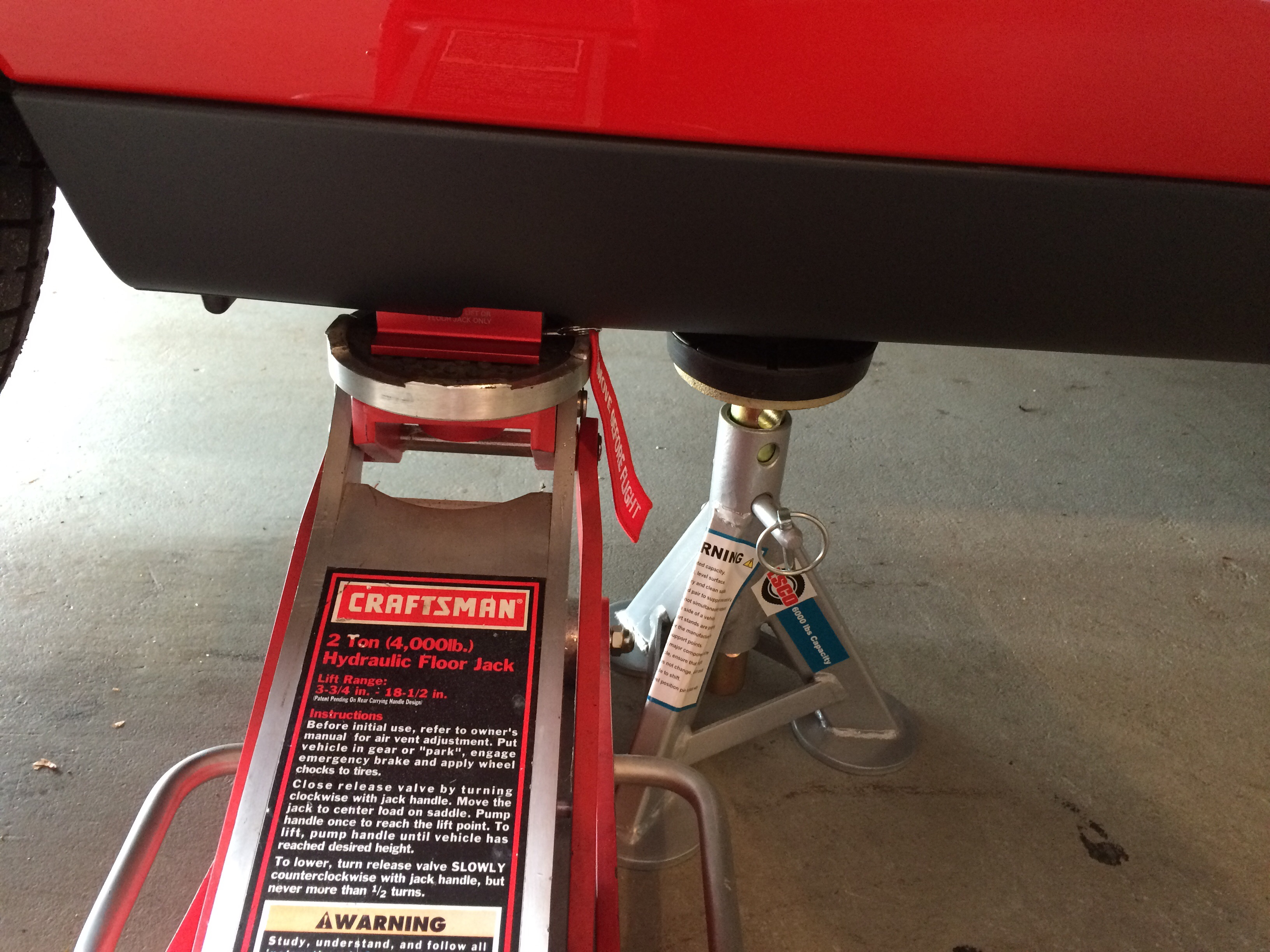 This A Safe Place To Put Jack Stands Srt Hellcat Forum