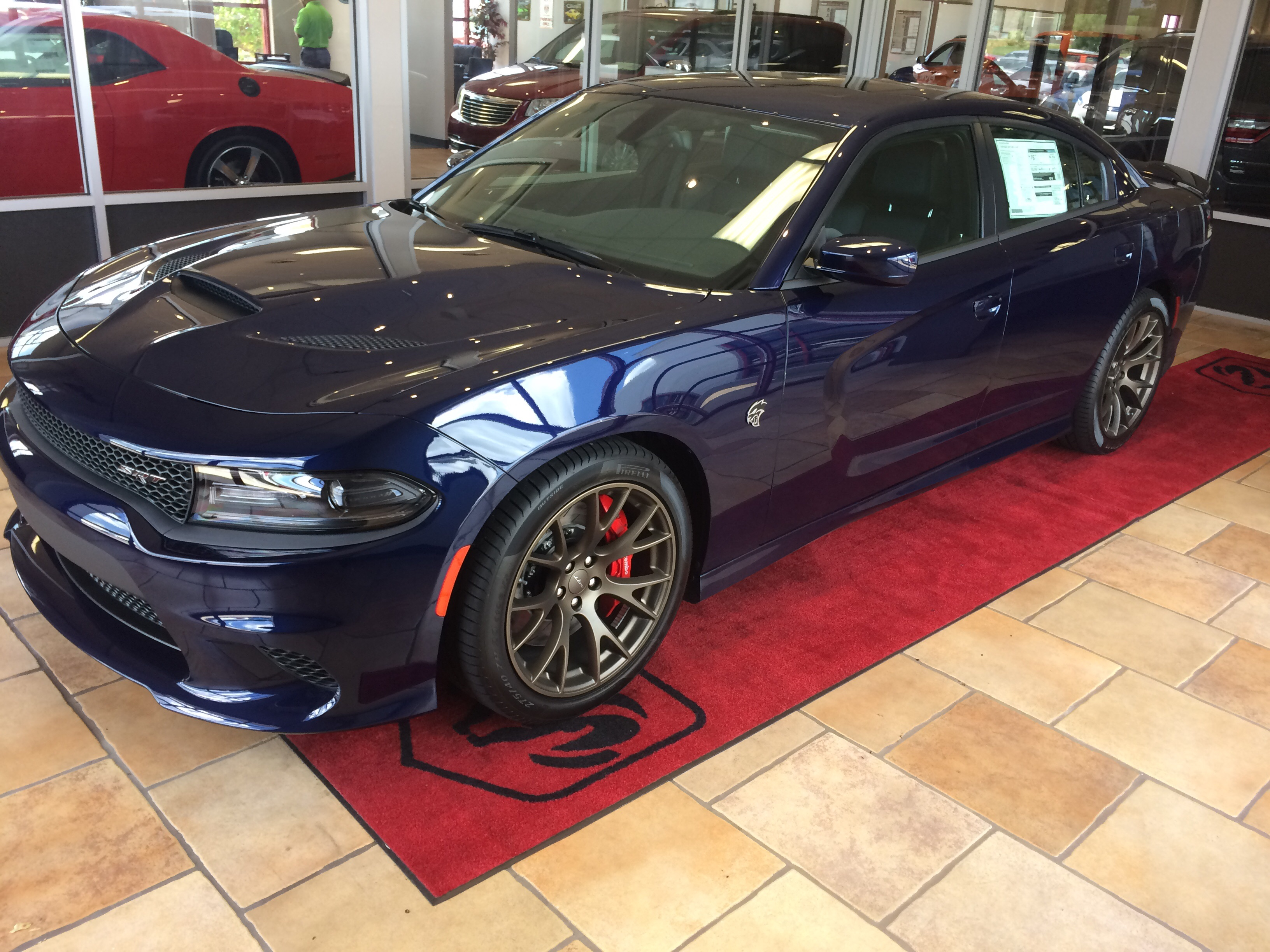 call my buddy brian t at superior dodge in conway ar they have one waiting for an owner its loaded - 2016 Dodge Charger Hellcat Blue