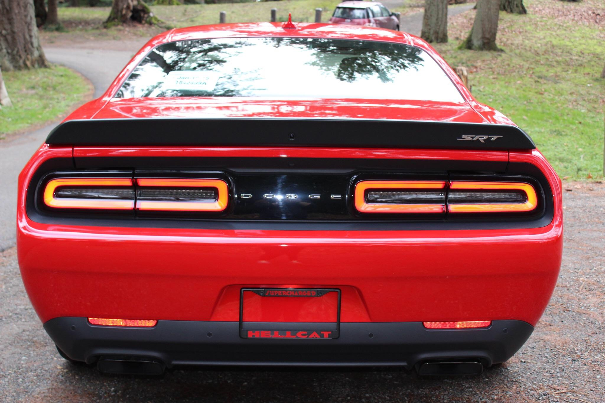 Dodge SRT Black Plastic License Plate Frame