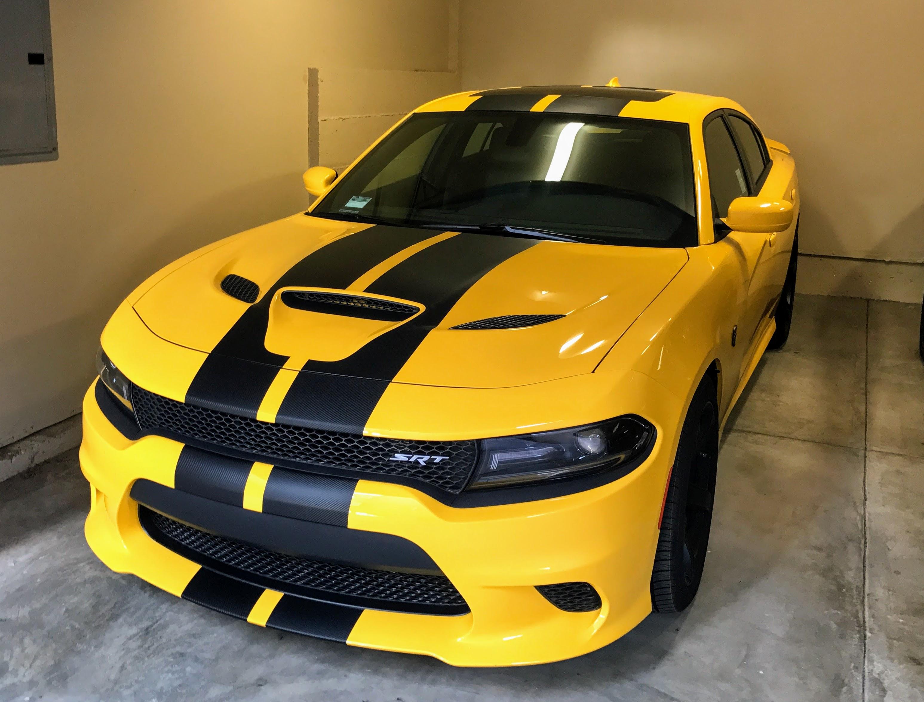 hellcat charger yellow jacket srt