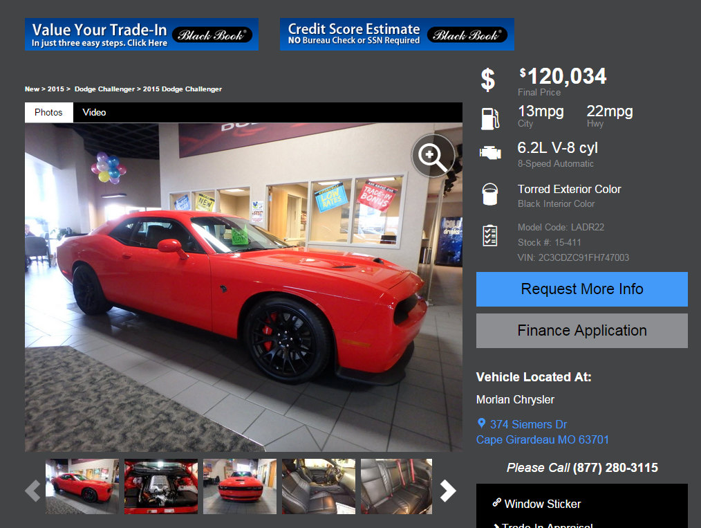 New 2015 Dodge Challenger SRT Hellcat For Sale in Cape Girardeau MO   Near Sikeston   15 411.png