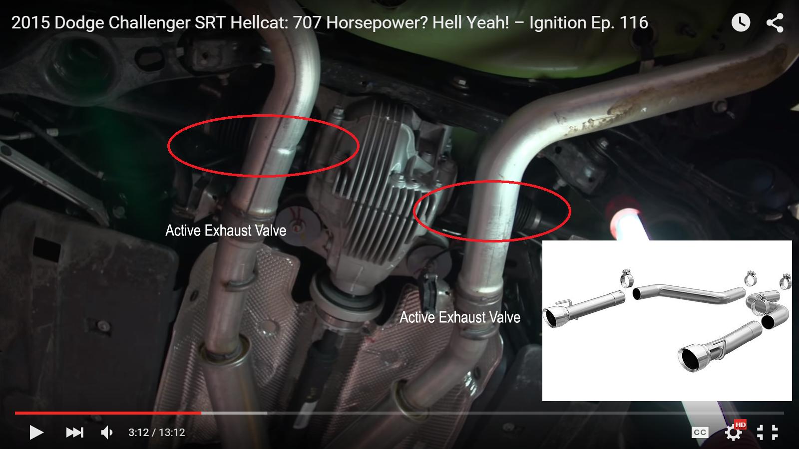 Magnaflow Axle Back Exhaust For 15 16 Charger 392 6 4l 6 2l Srt Hellcat Forum