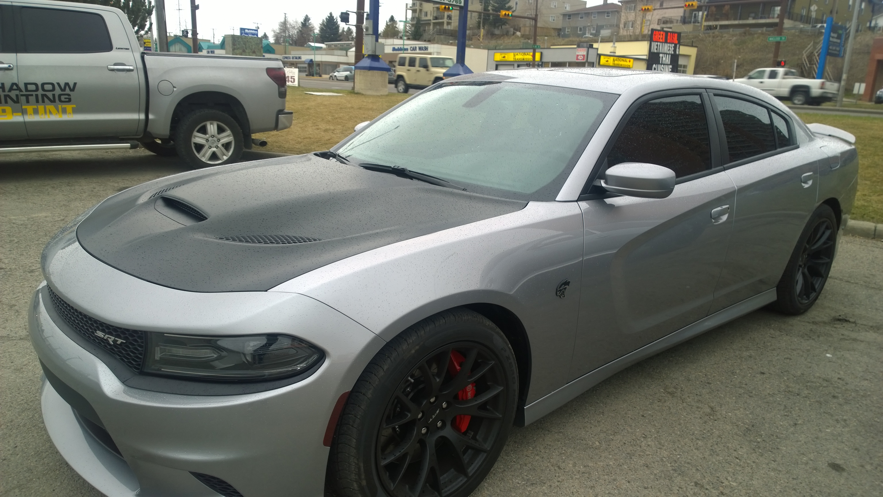 Hood Wrap Xpel Window Tint And Debadged Charger Srt